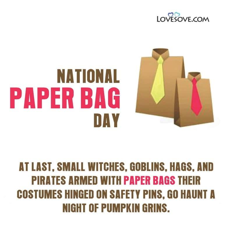 National Paper Bag Day Download, National Paper Bag Day Photos, National Paper Bag Day Pictures, National Paper Bag Day Whatsapp Status, National Paper Bag Day Slogan, National Paper Bag Day Today, Paper Bag Day Facebook Whatsapp Status