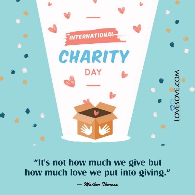International Day Of Charity, International Day Of Charity Quotes, International Day Of Charity Status,