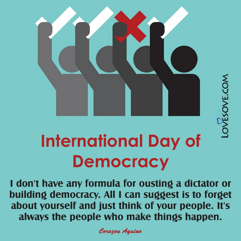 International Day Of Democracy Thoughts, Messages & Quotes