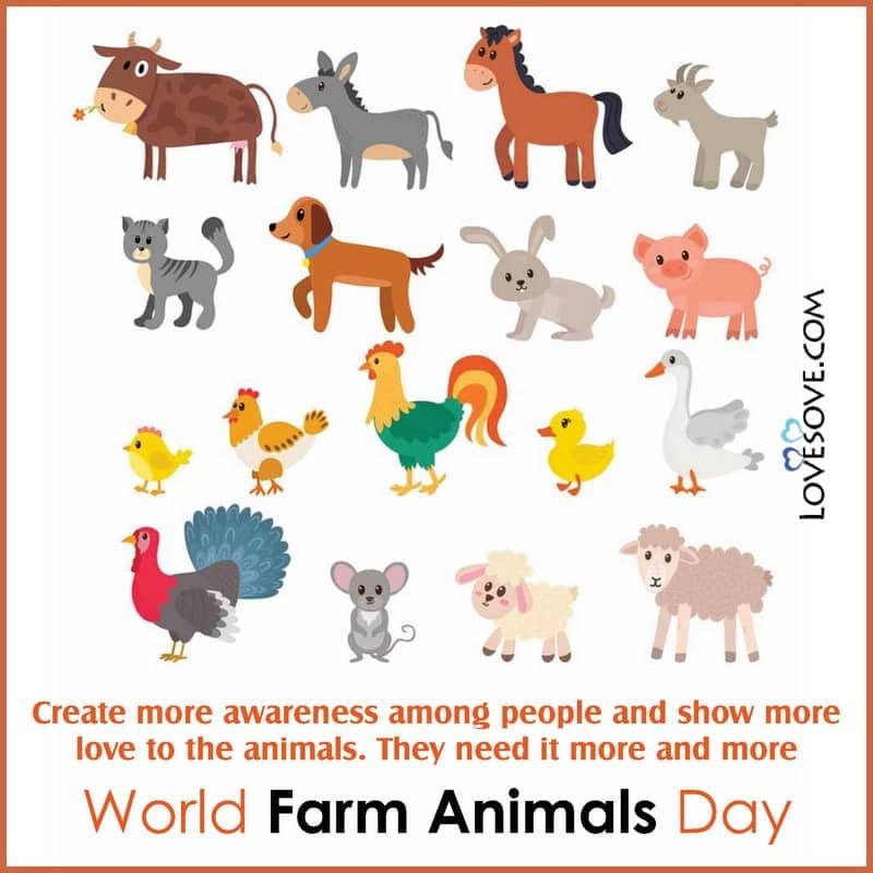 World Farm Animals Day, World Farm Animals Day 2020, World Day For Farm Animals, World Farm Animals Day Quotes,