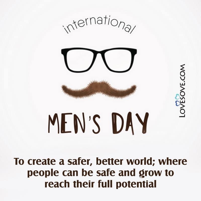 International Men's Day, Happy International Men's Day Pics, International Men's Day 19 November, Greetings For International Men's Day, International Men's Day Quotes, International Men's Day Wishes Quotes, Happy International Men's Day Quotes,