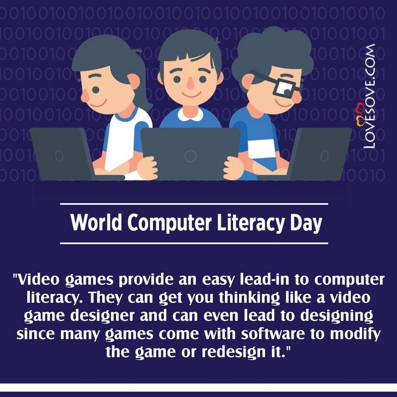 World Computer Literacy Day, Speech On World Computer Literacy Day, Quotes On World Computer Literacy Day, World Computer Literacy Day Images,