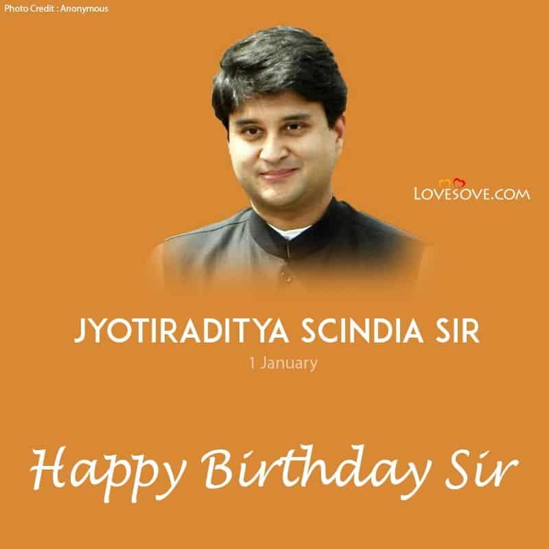 Jyotiraditya Scindia Happy Birthday, Birthday Status To Jyotiraditya Scindia, Jyotiraditya Scindia Birthday Wishes,