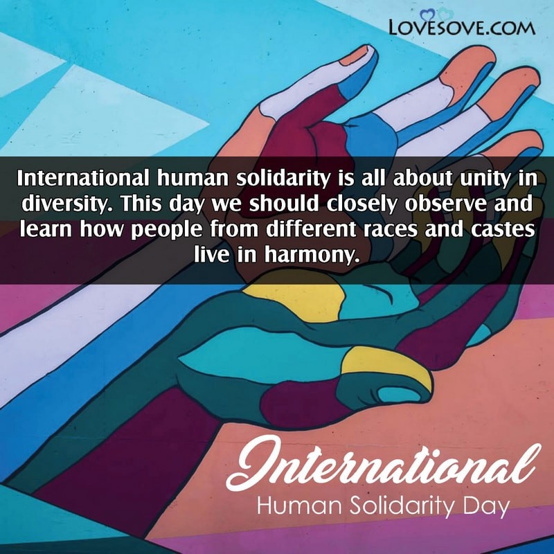 International Human Solidarity Day, International Day Of Human Solidarity, International Human Solidarity Day 20 December, International Human Solidarity Day Facts,