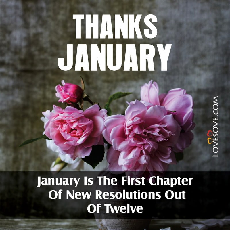 Best January Quotes, Thanks January Wishes, Welcome January Status Images