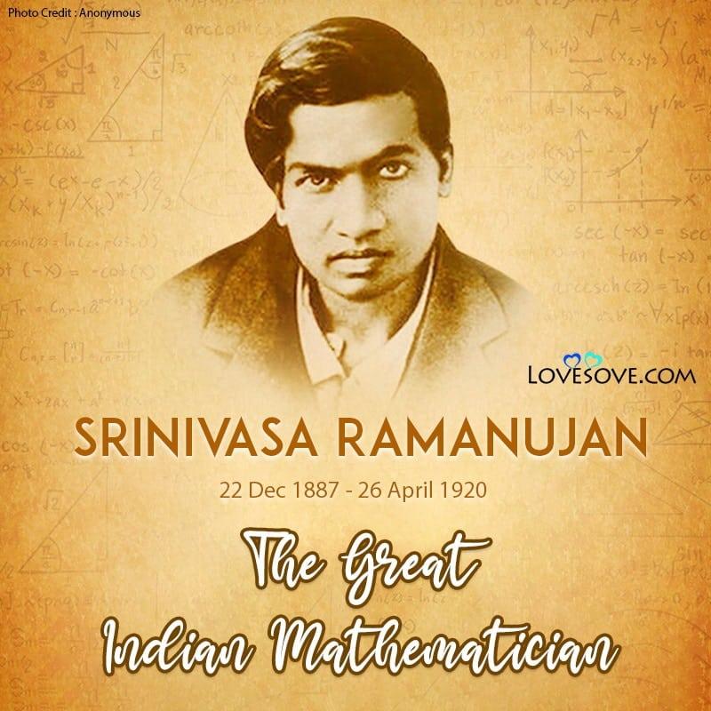 Srinivasa Ramanujan, Srinivasa Ramanujan Biography, Srinivasa Ramanujan Images, Srinivasa Ramanujan Photo, Srinivasa Ramanujan Mathematician, Srinivasa Ramanujan Pictures,