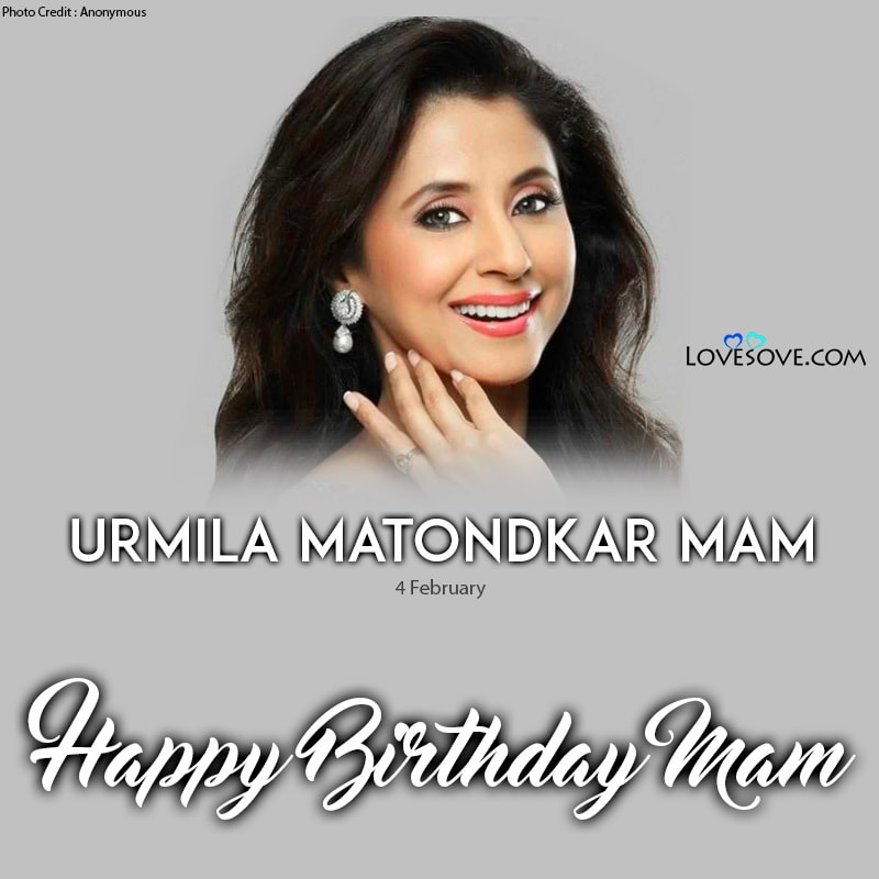 Urmila Matondkar Birthday Wishes, Birthday Wishes For urmila Matondkar, Urmila Matondkar Happy Birthday,