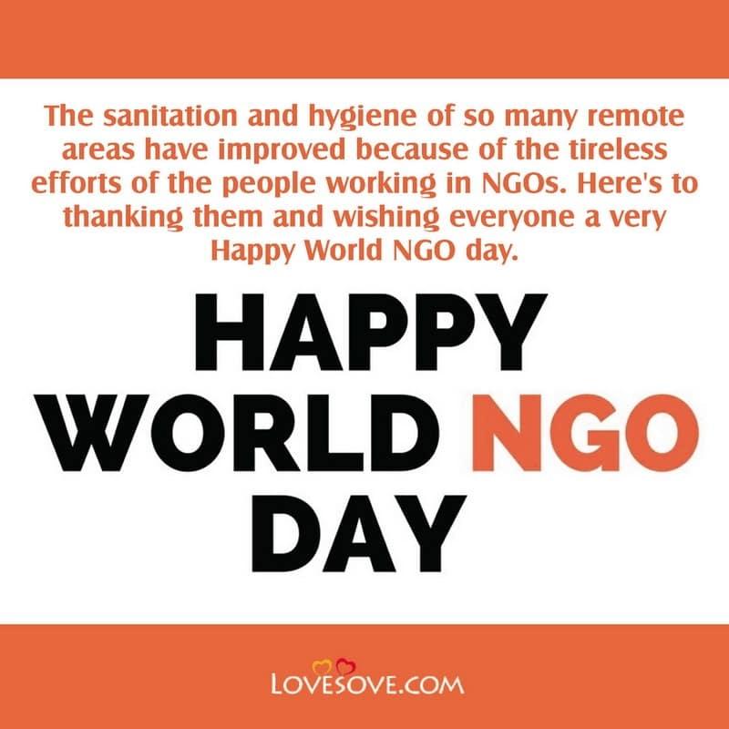 World NGO Day Inspiring Lines, World NGO Day Inspirational Lines, World NGO Day Famous Lines, World NGO Day Best Lines,