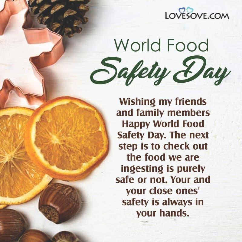 World Food Safety Day Resolution, World Food Safety Day Slogan In Hindi, World Food Safety Day Slogans, World Food Safety Day Status,