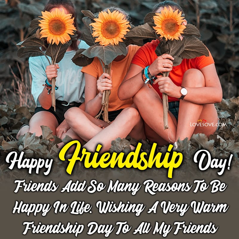 Happy Friendship Day Wishes Messages & Quotes In English, Happy Friendship Day Wishes, friendship day nice quotes lovesove