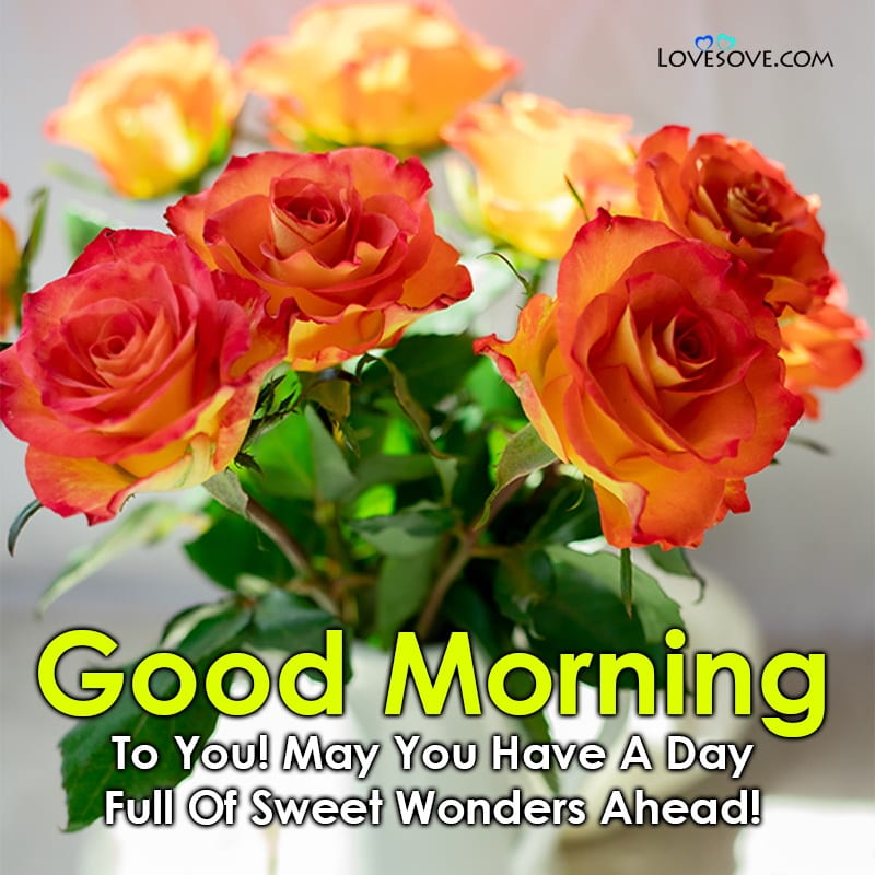 May You Have A Day Full Of Sweet Wonders Ahead, , good morning quotes positive thoughts lovesove
