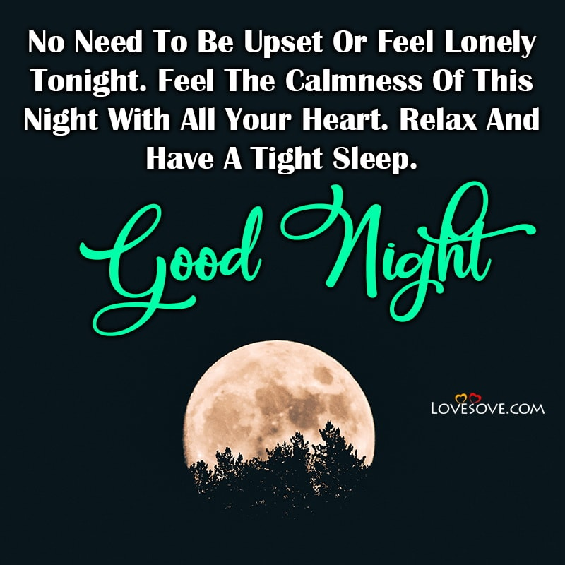 No Need To Be Upset Or Feel Lonely Tonight Feel The, , good night status for girlfriend lovesove
