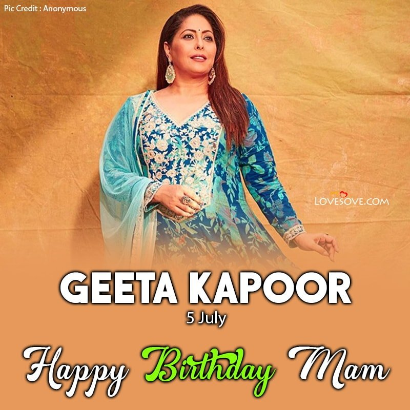 Happy Birthday Geeta Kapoor, Geeta Kapoor Birthday Wishes, Geeta Kapoor Happy Birthday, Birthday Wishes For Geeta Kapoor,