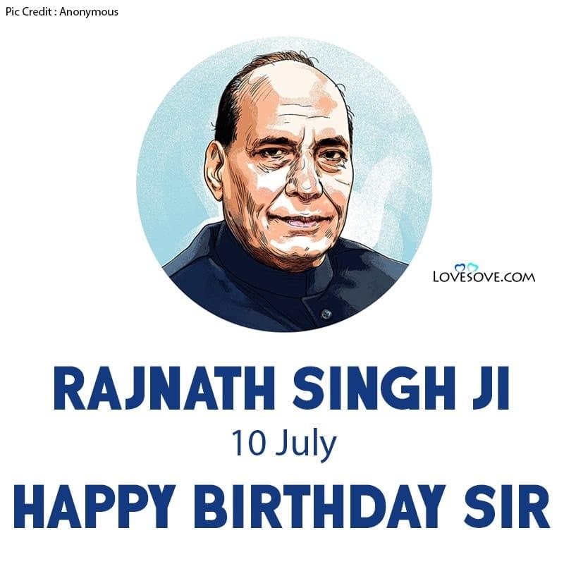 Happy Birthday Rajnath Singh, Birthday Wishes For Rajnath Singh, Rajnath Singh Happy Birthday, Rajnath Singh Birthday Wishes,