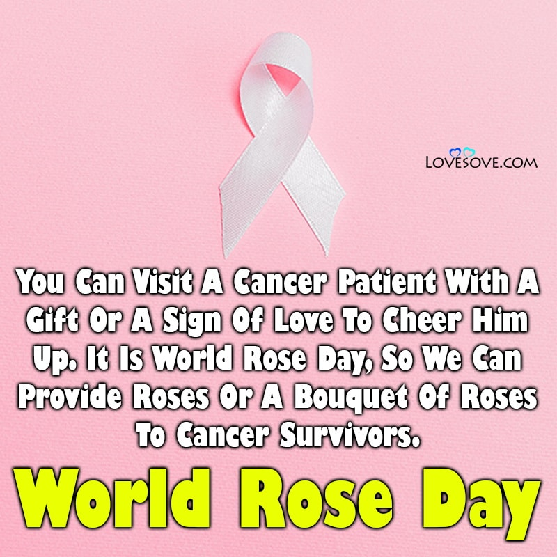 Quotes On World Rose Day, World Rose Day Lines, World Rose Day Messages,
