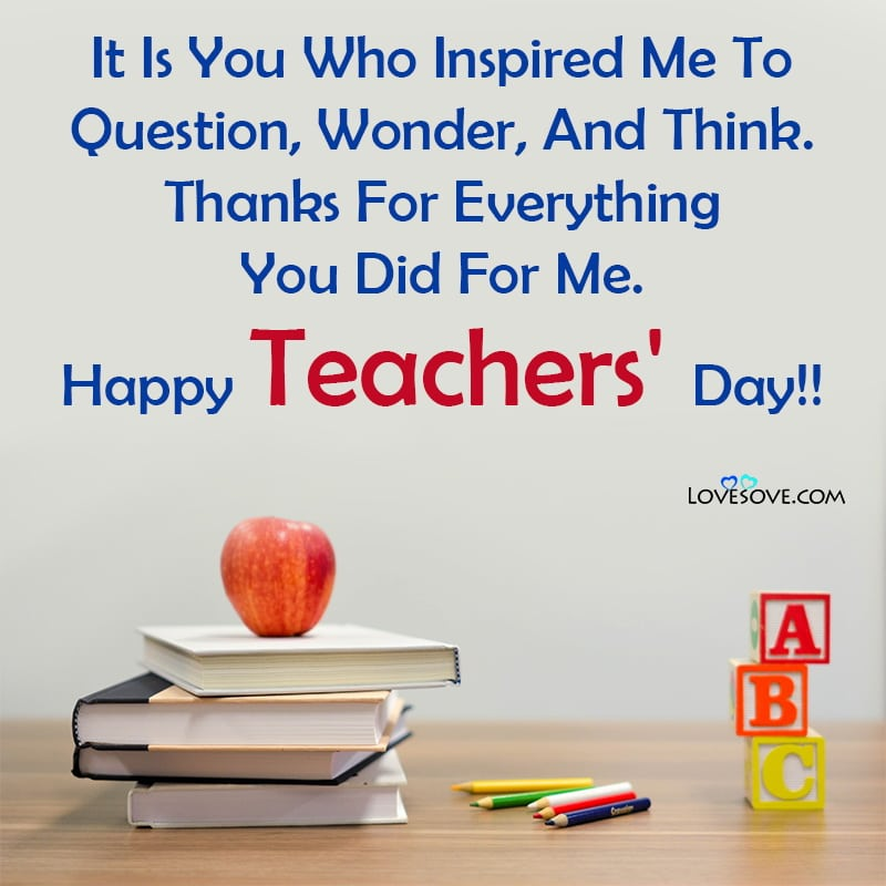 , , teachers day card lines in english lovesove